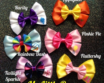 My Little Pony inspired bows