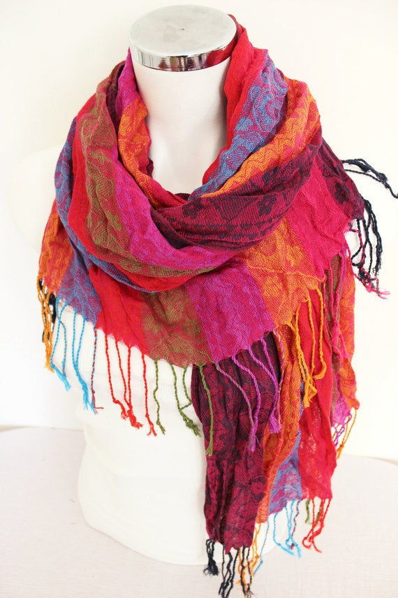 color scarves ethnic fabric scarves striped by