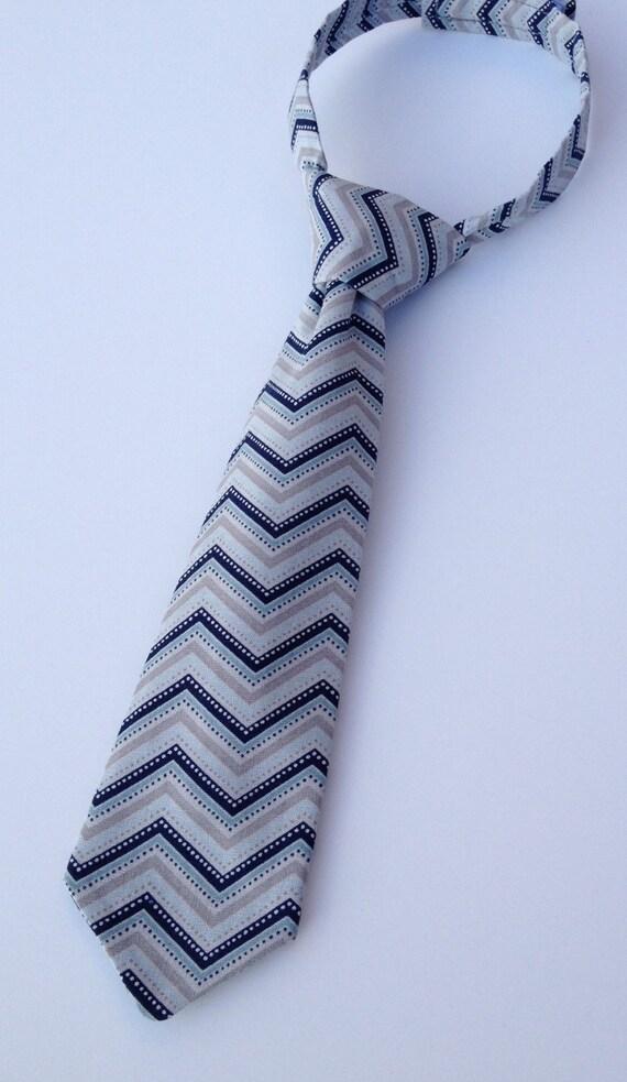boys neck tie infant tie toddler neck tie gray and blue