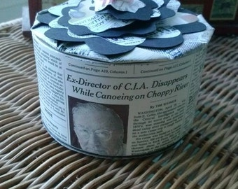 Round Paper Recycled Box Trinket Flower New York Times