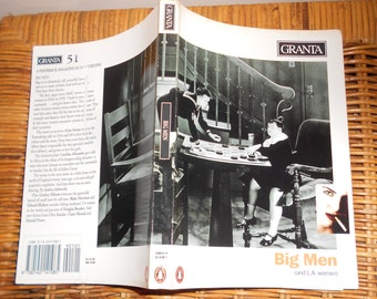 Vintage Literature book, GRANTA 51 Big Men and L.A. Women, Essays and Art Autumn 1995 Free shipping