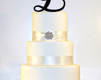 """5"""" Monogram Cake Topper"""