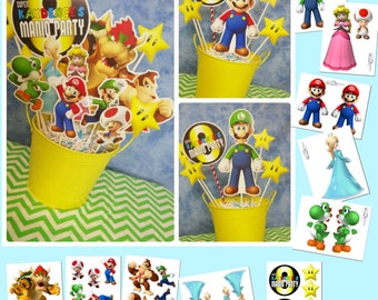 Super Mario Bros. Printable Centerpiece | Mario Birthday | Mario Decorations | Mario Centerpiece | Mario Printable | Epic Parties by REVO
