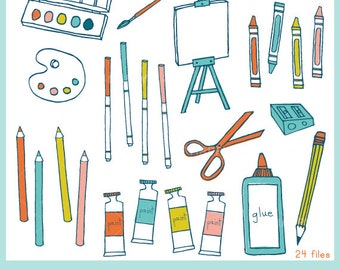 Art Supplies CLIP ART Set