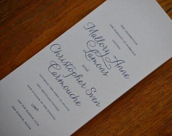 Folded Wedding Program