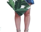 Palm Leaf Print Oversized Clutch Purse, Palm Print Handbag, Computer Case, Gifts For Her, Travel Accessory, Vacation Handbag, Summer Handbag