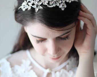 Sale Bridal Wedding Flower Rhinestone Headband Headpiece, Formal Wear, Wedding Tiara,also available as a set
