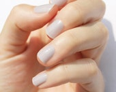 Barely There Gray Nail Wraps