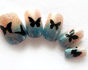 Butterfly assortment Vinyl nail sticker decals