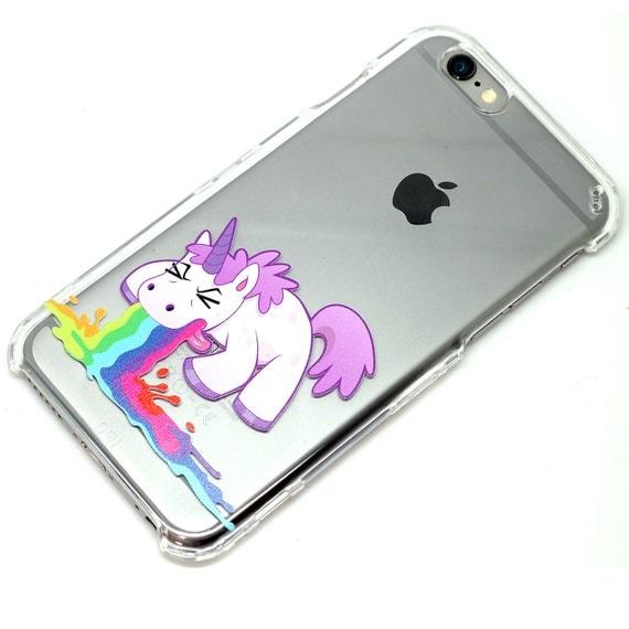 Licorne Barf Throw Up clair cas de tu00e9lu00e9phone iPhone 6, 7, SE, 6 Plus ...