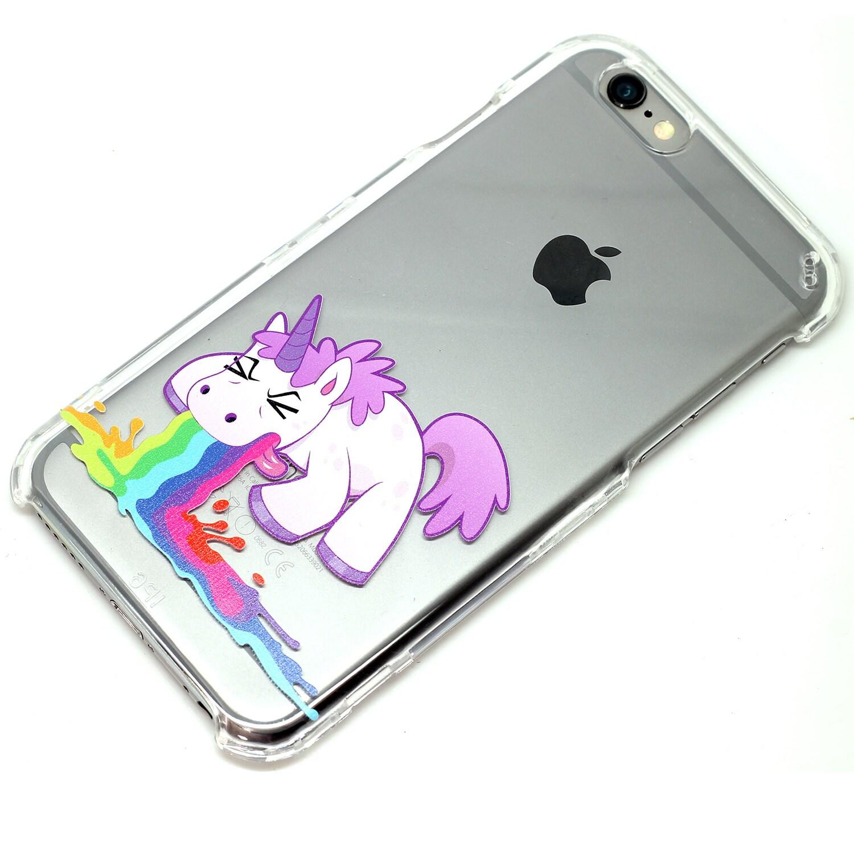 Licorne Barf Throw Up clair cas de tu00e9lu00e9phone iPhone 6 7 SE