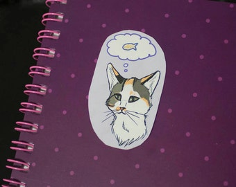 Cat Thoughts Stickers