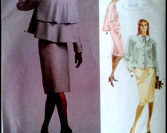 Vogue 1957  Misses' Jacket & Skirt  Size 14
