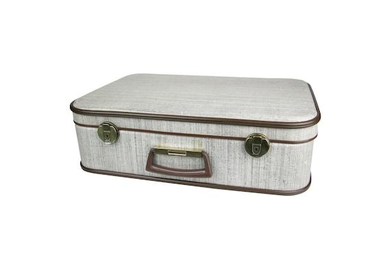 Valise vintage en carton tweed - Valise carton vintage ...
