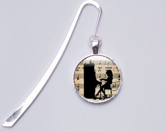 Music Gifts For Women - Music Bookmark, Piano Bookmark, Music Gifts Photo Bookmark