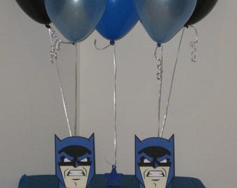 2 Batman Birthday Party Centerpiece Balloon Holders