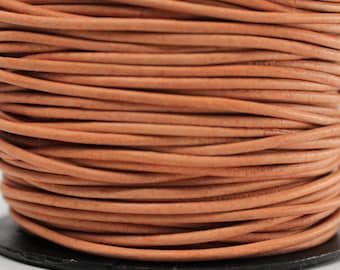 50 Meters of 1.5MM Natural Round Leather Cord (50 yards) (50m) Roll Spool