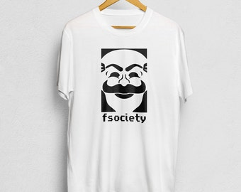 fsociety Mr. Robot T-Shirt, Mr Robot Mask Logo Shirt