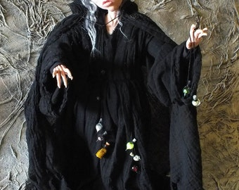 Scarecrow Wizard and Potion Master Art Doll 'Mr Algernon Crowe'