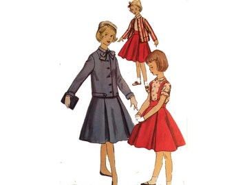 UNCUT Early 50s Girls' Jacket, Skirt & Blouse, Size 7, Simplicity 1479