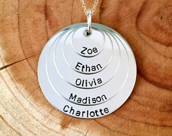Personalized Five Names Necklace