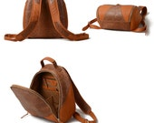 Leather Backpack Large- Sporty Female Or Male Leather Backpack- Brown Leather Backpack Women or Men- High Quality and Returns  Guarantee