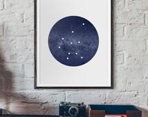 Taurus Constellation Art Print • 5x7, 8x10, 11x14, 16x20 or 20x30