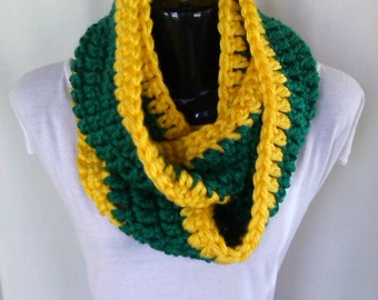 Sport Team Crochet Infinity Scarf - Ready to ship in 1-2 days