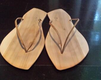 handmade wooden sandals