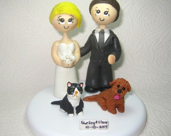 Custom wedding cake topper, unique wedding cake topper