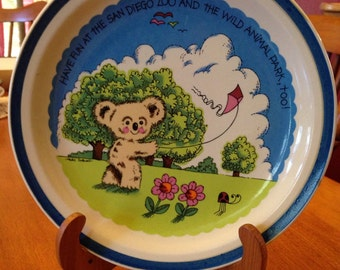 Collectable Vintage Plate from The San Diego Zoo and Wild Animal Park
