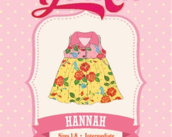 Hannah Dress PDF Sewing Pattern: Sizes 1 to 8