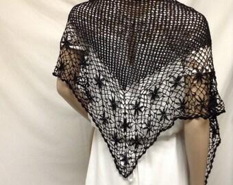 Knit Shawl, Black,knit, Wrap
