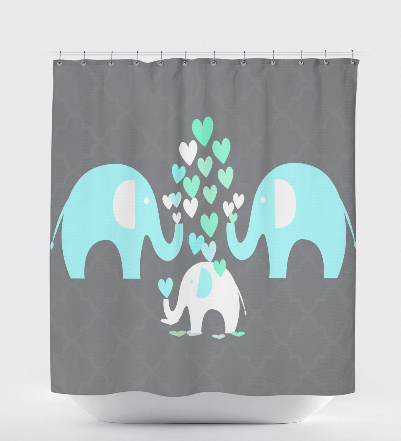 Bathroom Accessories Etsy elephant shower curtain kids bathroom accessories elephant