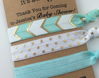 Baby boy shower favors, baby boy shower, hair tie favors, baby shower favors boy, its a boy, boy shower favors, baby shower hair ties, baby