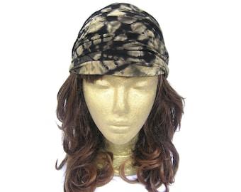 buy two get one FREE Hair Bandanas Yoga Headband Black Bandana Boho Headband Hippie Stretchy Wide Headband Black and Grey