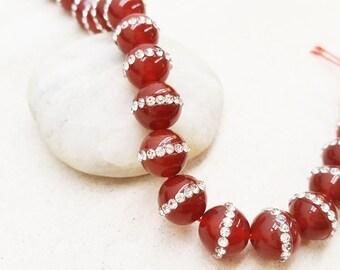 Carnelian with CZ Beads