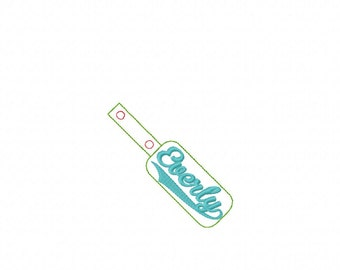 Everly- Name - In The Hoop - Snap/Rivet Key Fob - DIGITAL EMBROIDERY DESIGN