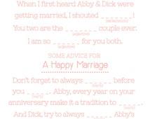 Wedding MAD LIBS Printables - Unique Guest Book Alternative- Wedlibs- Doilies Madlibs- Wedding Shower Games