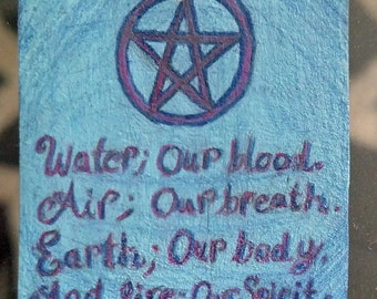 Hand made Wiccan Quote Pendent