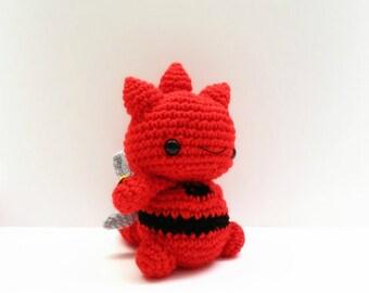 Crochet Scizor Inspired Chibi Pokemon