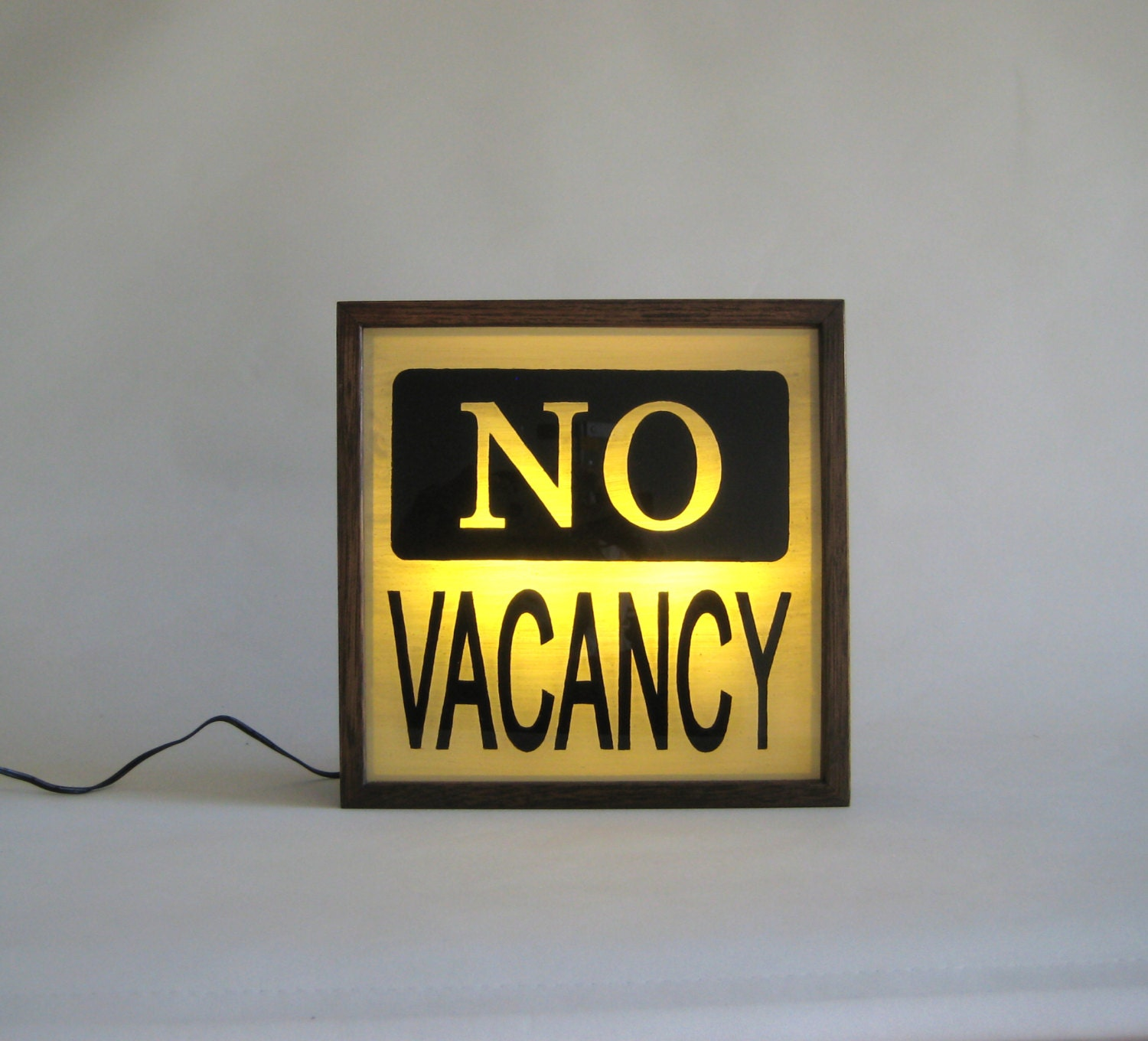 hand painted lighted signs no vacancy vintage