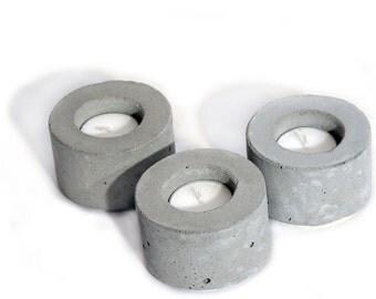 Concrete Tea Light Candle Holder - (Set of 3)