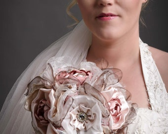 Shabby Chic Bridal Bouquet Handmade