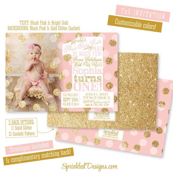 Ballerina first birthday girl invitation photo card tutu cute so il570xn filmwisefo