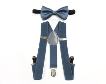 baby suspenders and bow tie, kid's grey suspenders, baby suspenders outfit, grey suspenders, grey bowtie, for infants, toddlers