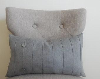 Designer linen,12x18, pillow cover, throw pillow, decorative pillow, same fabric front and back
