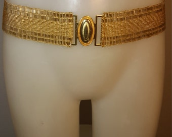 FREE  SHIPPING   Vintage Glass Beaded Belt