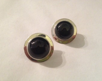 Vintage Sterling Silver Round Post Earrings