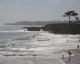 Beach Photography, California Home Decor, Coastal Wall Print, Fine Art Photography, Ocean cottage decor, Nature print - The Beckoning Sea